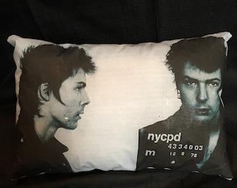 Sid Vicious Mugshot Pillow