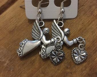 Guardian angel dangle earrings