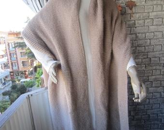 Beige Long Knit Scarf/ Women Shawl, Winter Scarf Shawl,Oversized Long Scarf Shawl For Her Women Fashion