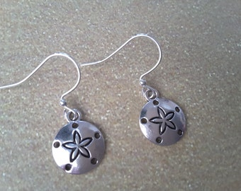 Silver Sand Dollar Earrings