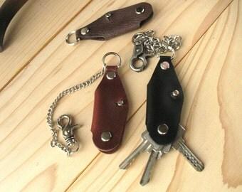 Key case Key holder Organizer keys Key chain Keyring Leather key fob Minimalist style keychain clasp Key fob case fob keyring key fob holder