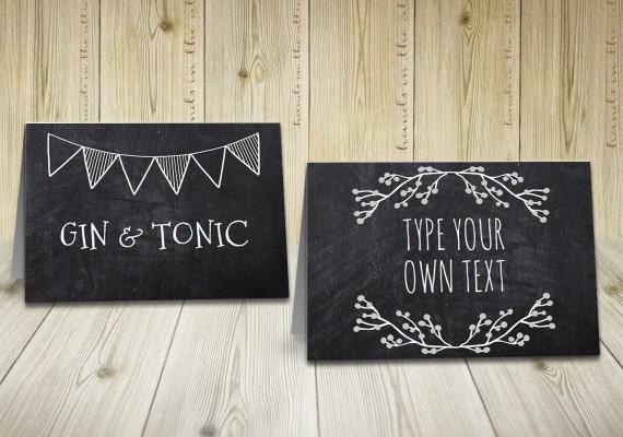 rustic labels chalkboard labels buffet tent cards rustic