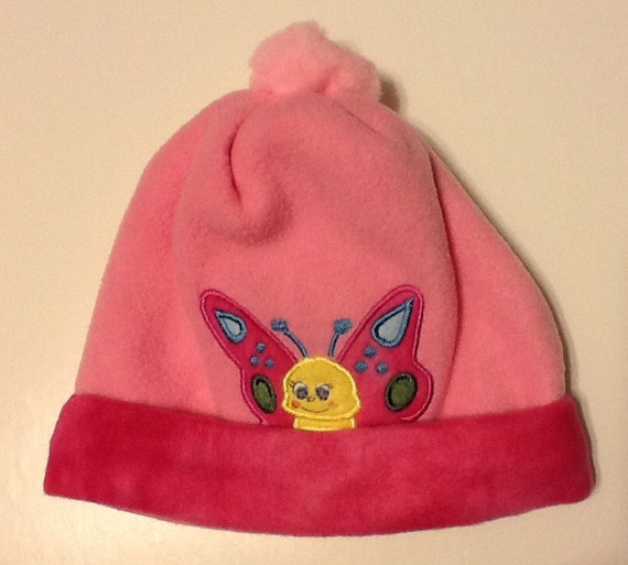 Double layer toddler fleece hats embroidered and appliqué