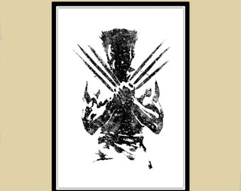 Wolverine poster, Wolverine Print, fantastic 4, Marvel, Art, Hero poster, wolverine wall art, Wolverine abstract print, Comic art (792)