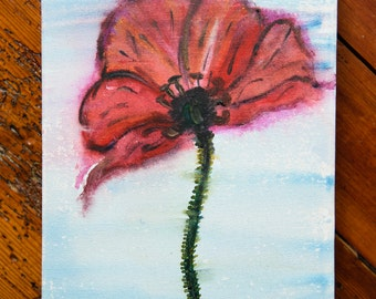 Poppy original canvas