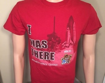 15% OFF I was there Kennedy Space Center // STS134 // Nasa // Space shirt // Tshirt // adult size Small S
