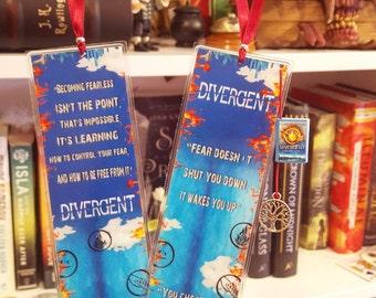 Divergent bookmark - Handmade