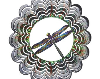 Next Innovations Kaleidoscope Dragonfly Wind Spinner Small