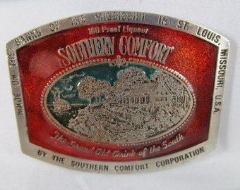 Belt Buckle, Southern Comfort, Made in USA