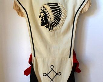 Rare! Vintage Band memorabilia Ostwald Girl marching band jacket Native American
