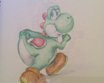 Yoshi drawing A4 Print