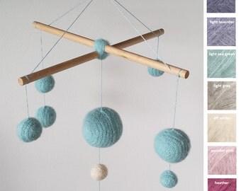 CANDY FLOSS, crochet baby mobile, mobile, crib mobile,waldorf mobile, baby mobile, nursery mobile