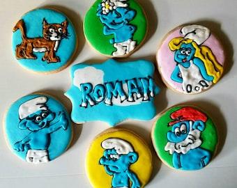 Smurfs cookies (12)