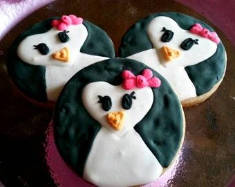 Penguin cookies (12)