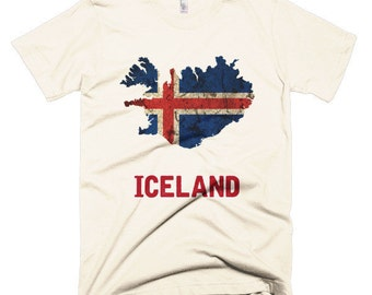 The Iceland Flag T-Shirt (mens fitted)