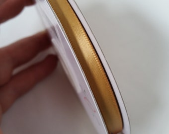 Polyester Satin Gold Ribbon. 6mm