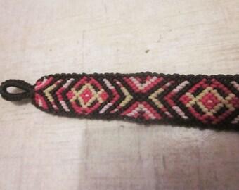 Diamonds and Triangles Macrame Bracelet Woven Friendship Bracelet