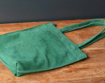 Bo-Yee shopper green nubuck