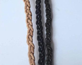 Brandi Alyssa Braided Leather Choker