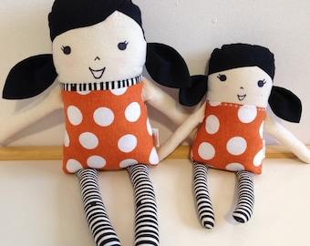 Large Rag doll / fabric doll / cloth dolls / handmade doll / rag doll / girl rag doll