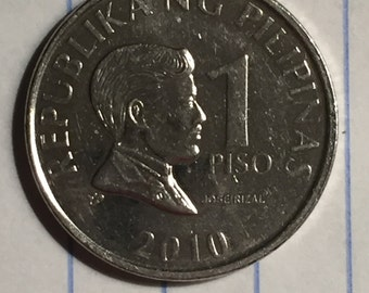 1993/2010 1 Piso Republika Ng Pilipinas/Republic Of Philippines Coin #D110