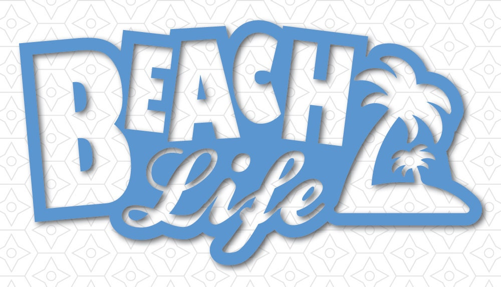 Download Beach Life Decal SVG DXF and AI Vector files by ...