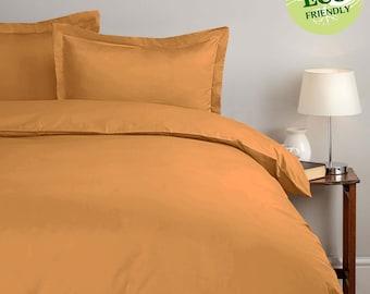 Egyptian Cotton Gold Duvet Cover Set - 1000 Thread Count