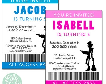 Mr. Tommy- All Access Pass Birthday Party Invitation - 5x7