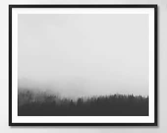 Landscape, Scandinavian art, Nature print, Minimalist, Modern art, Wall decor, Printable art, Digital art Instant Download 24x18, 20x16