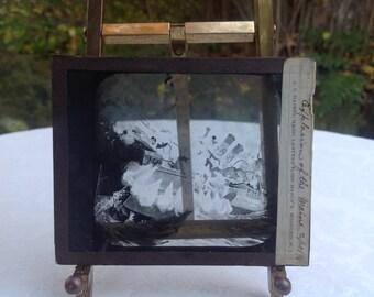 1898 Explosion of the Maine Magic Lantern Slide