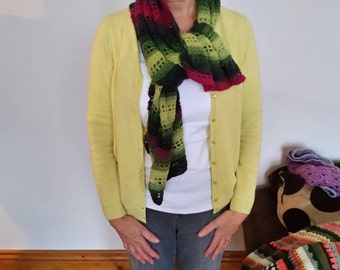Purple and green wrap/scarf
