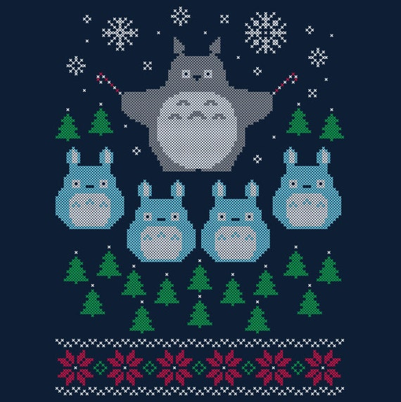 Totoro Ugly Christmas Holiday Sweater T-Shirt *FREE SHIPPING*
