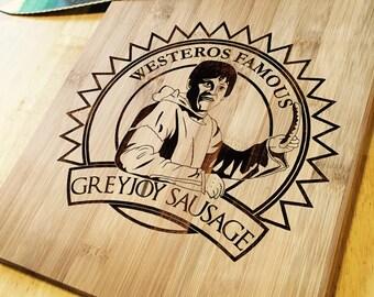 Greyjoy Sausage Cutting Board 9x11
