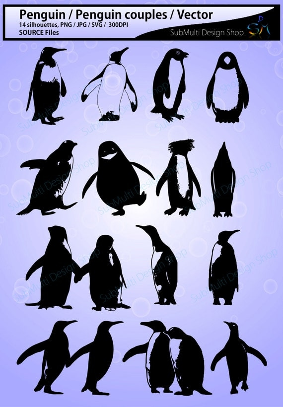 Penguin Silhouette Svg Penguin High Quality