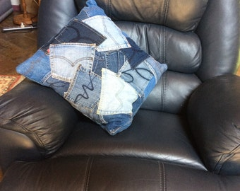 Reloved Denim Jean Pocket Cushion
