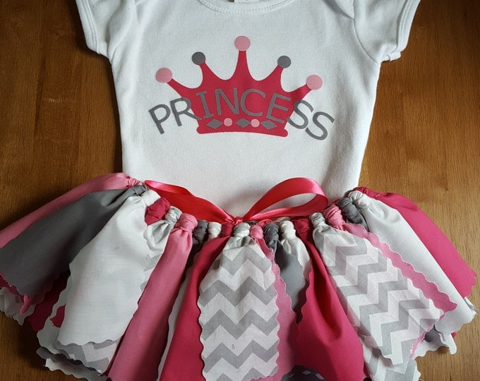 Pink and Grey Princess Tutu Set