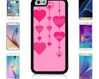 Cover Case for Apple iPhone 7 7 Plus 6 6S Plus Samsung Galaxy S7 Edge S6 Plus Note 5 6 7 8 9 10 att sprint verizon Heart Decoration