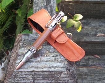 Steampunk Bolt-Action Pen (Desert Ironwood)