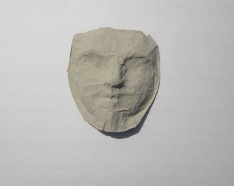 Paper mache mask, unfinished mask, ready to paint and decorate, creepy mask, Halloween mask