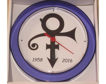 Prince R.I.P tribute novelty wall clock 17cm brand new