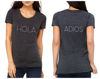 Cinco de Mayo Shirt - HOLA/ADIOS Shirt for Women - Free Shipping in U.S.