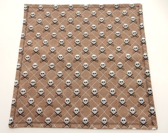 Handkerchief or Pocket Square- Skulls