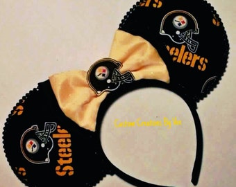 Steelers disney ears,handmade,steelers,disney ears