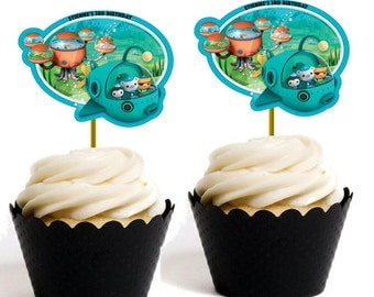 Octonauts Cup Cake Topper/Label Personalized