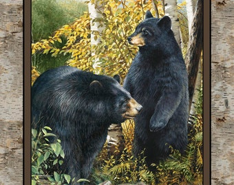 Wild Wings-Black Bear Panel Fabric Panel From Springs Creative