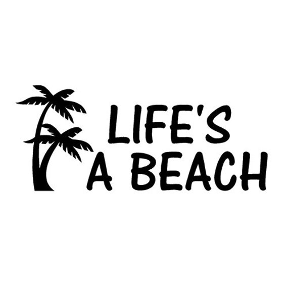 life 39 s a beach digitalized embroidery design. Black Bedroom Furniture Sets. Home Design Ideas