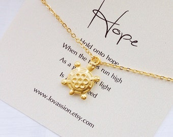 Gold Turtle Necklace, tiny turtle necklace, turtle necklace, small turtle necklace, animal lover gift
