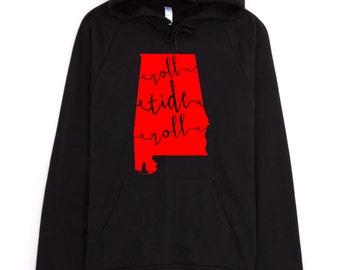 University of Alabama - Roll Tide Roll - American Apparel Hooded Sweatshirt, Hoodie