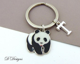 Panda KeyRing, Panda KeyChain, Panda Jewellery, Panda Gifts, Bear Key ring, Bear Key Chain, Personalised Panda Key chain