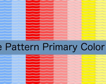 Wave Pattern Primary Colors